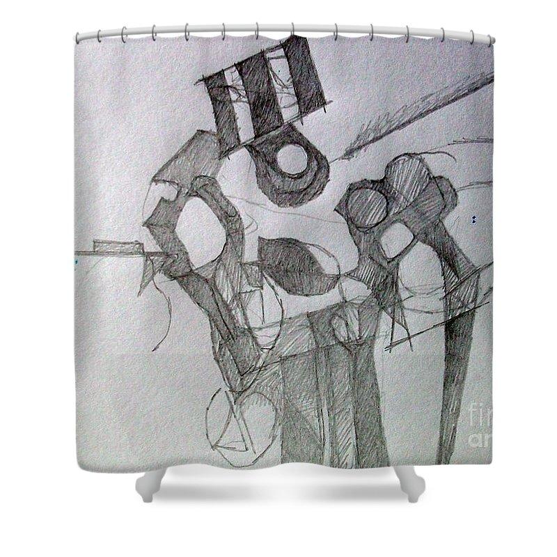 Torah Shower Curtain featuring the digital art Tiferes 1 by David Baruch Wolk