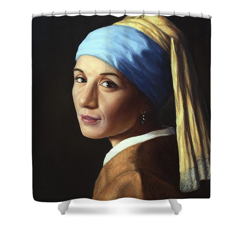Pearl Earring Shower Curtains