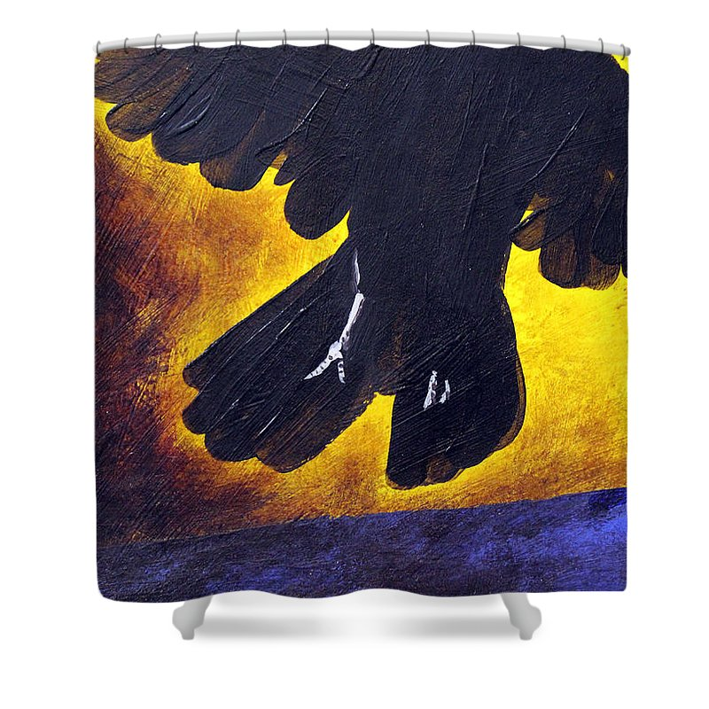 Painting Shower Curtain featuring the painting Escape To Your Dreams By Jaime Haney by Jaime Haney