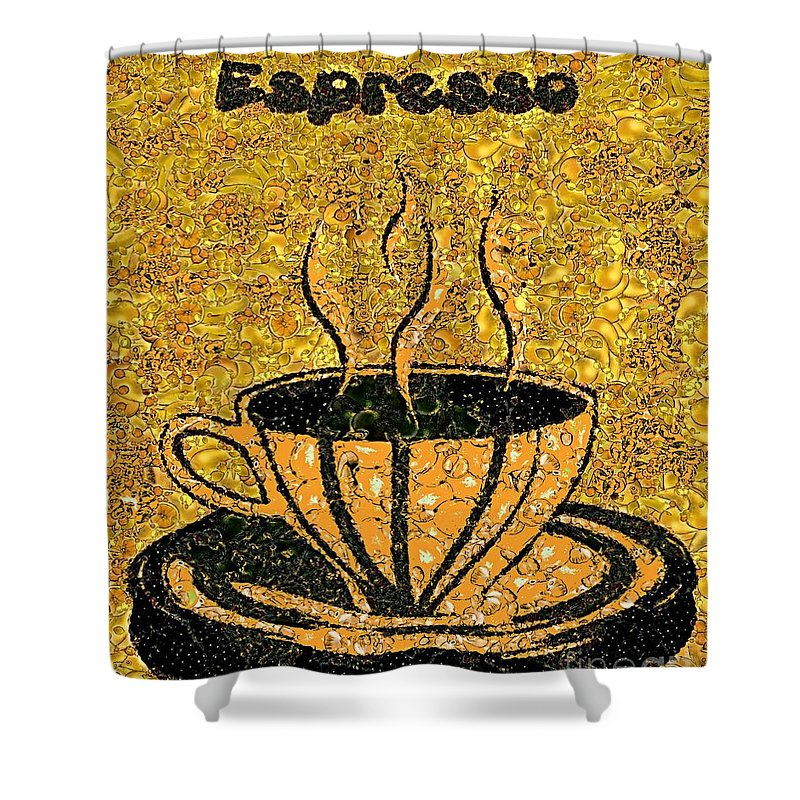 Espresso Shower Curtain featuring the painting Espresso by Dragica Micki Fortuna