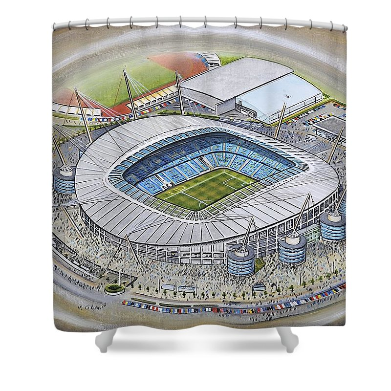 Etihad Stadium - Manchester City Shower Curtain