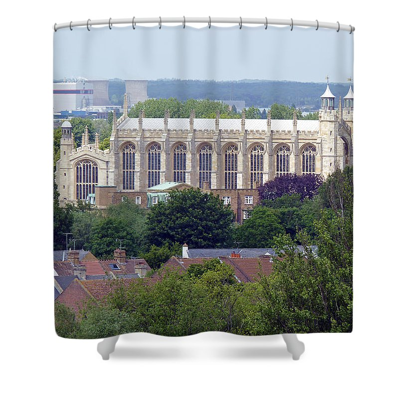 Windsor Shower Curtain featuring the photograph Eton College Chapel by Tony Murtagh