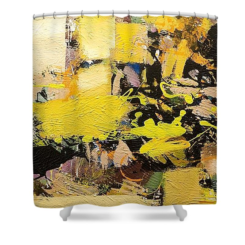 Landscape Shower Curtain featuring the painting Euclid by Allan P Friedlander