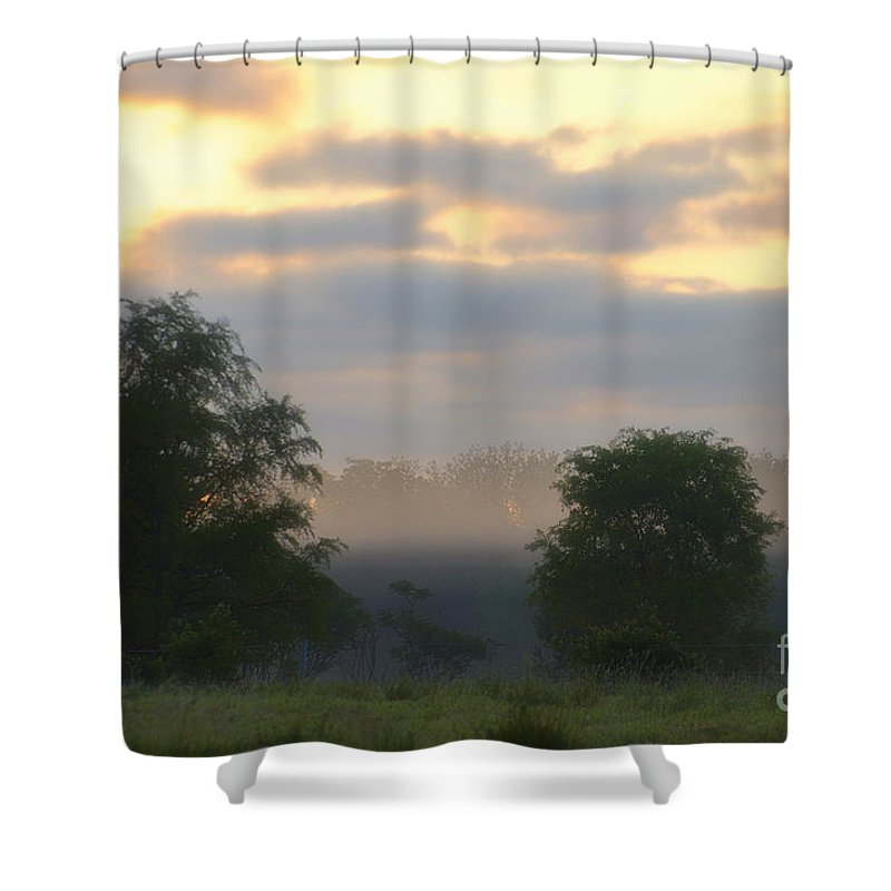 Agriculture Shower Curtain featuring the photograph Evaporation by Thomas Woolworth