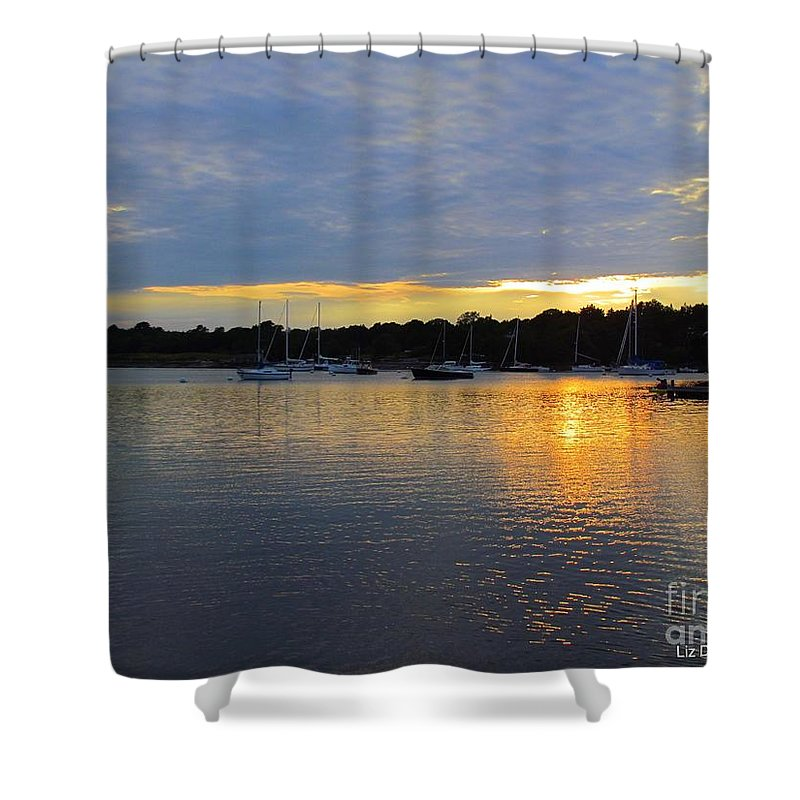 Sunset Shower Curtain featuring the photograph Evening Approaches by Elizabeth Dow