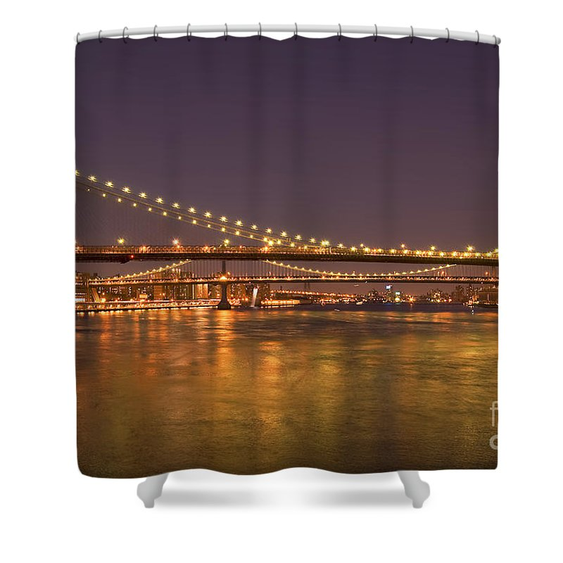 New York City Shower Curtain featuring the photograph Evening II New York City Usa by Sabine Jacobs