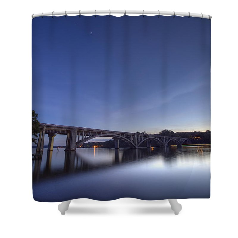 Lake Shower Curtain featuring the photograph Evening by Jackie Frick Smith
