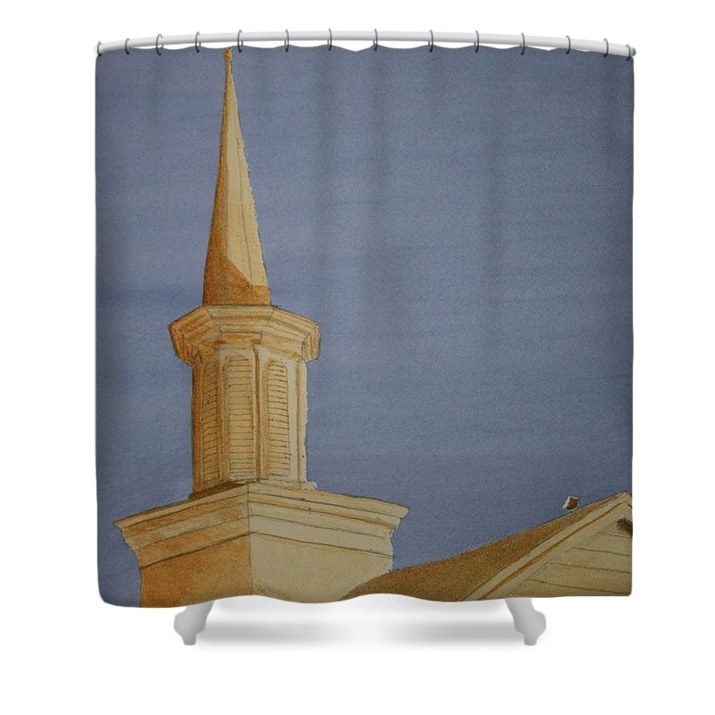 Jesus Shower Curtain featuring the painting Evening Worship by Stacy C Bottoms