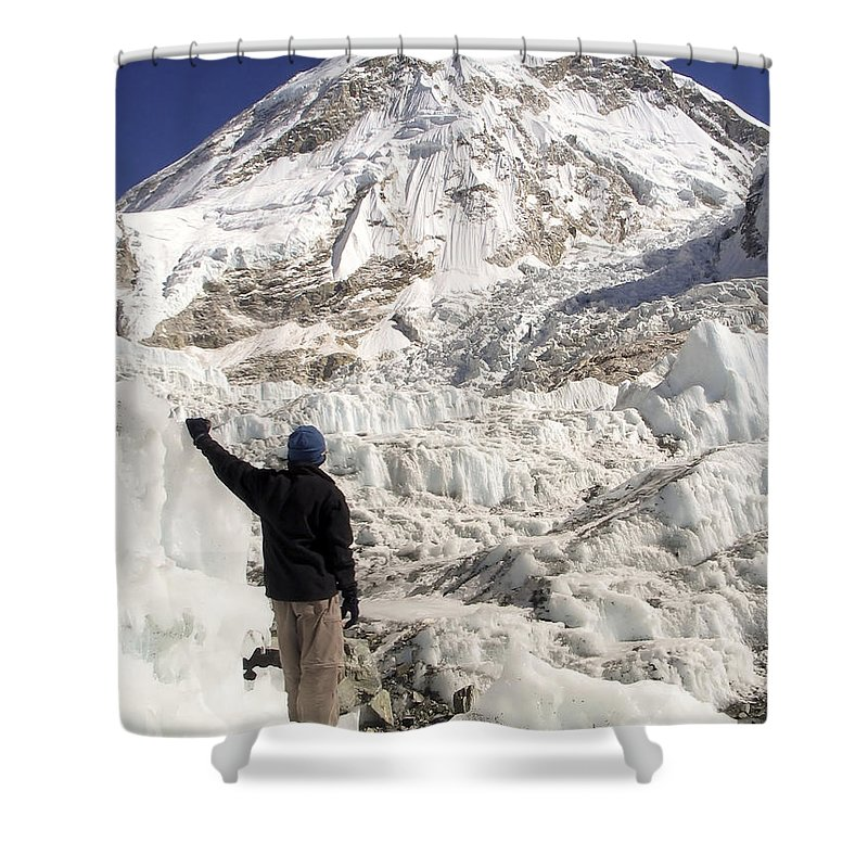 Basecamp Shower Curtain featuring the photograph Everest Base Camp by Tim Hester