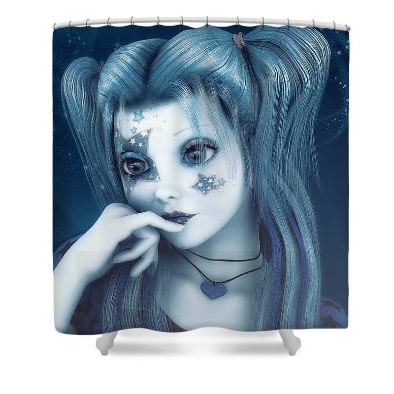 3d Shower Curtain featuring the digital art Everybody's Darling by Jutta Maria Pusl