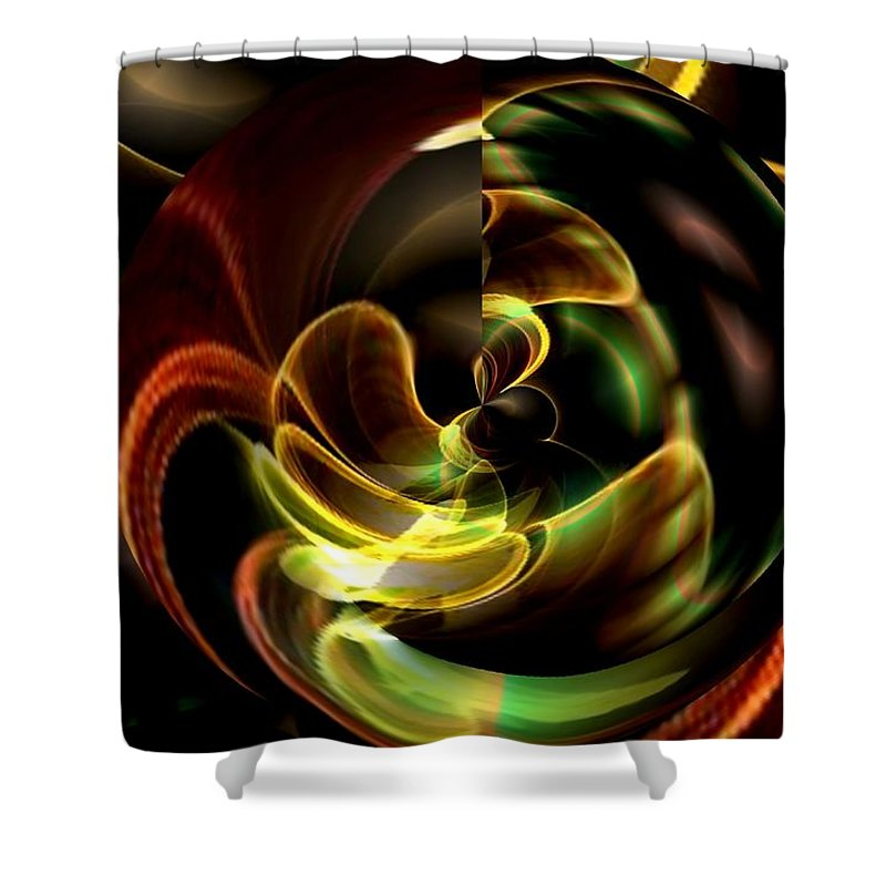 Evolve Shower Curtain featuring the digital art Evolve by Maria Urso