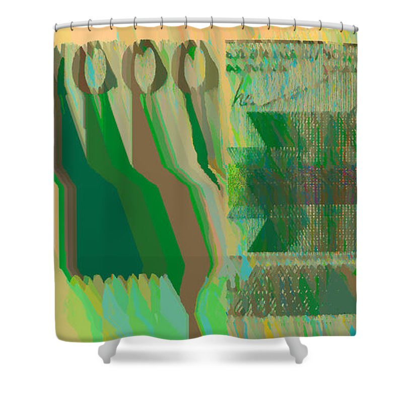 Digital Art Shower Curtain featuring the photograph Ex 1000 by Luc Van de Steeg