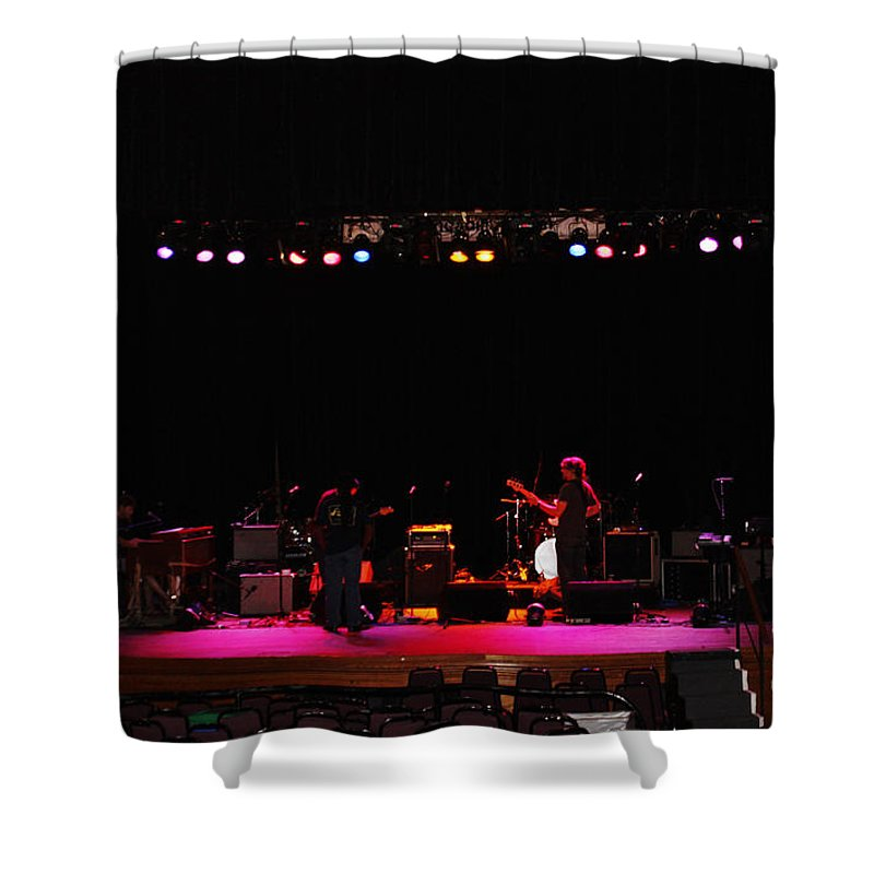Stage Shower Curtain featuring the photograph Exit Stage Left by Janice Pariza