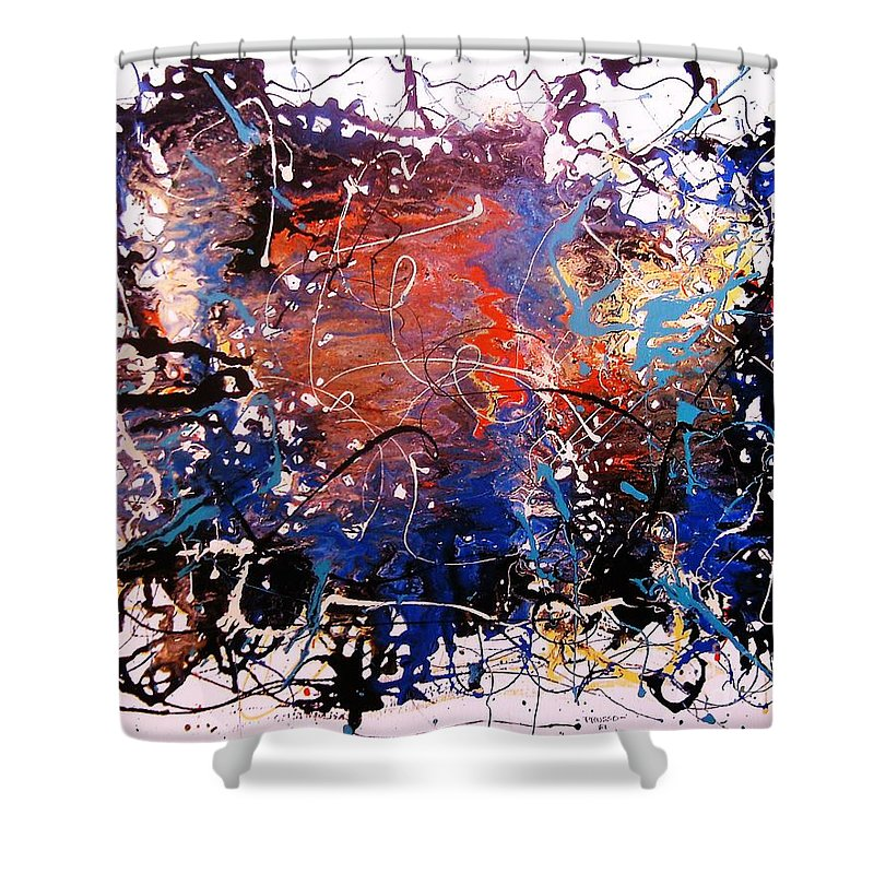 Abstract Impression Shower Curtain featuring the painting Zona Esotica by Roberto Prusso