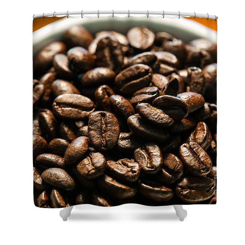 Expresso Shower Curtain featuring the photograph Expresso Beans by Dale Powell