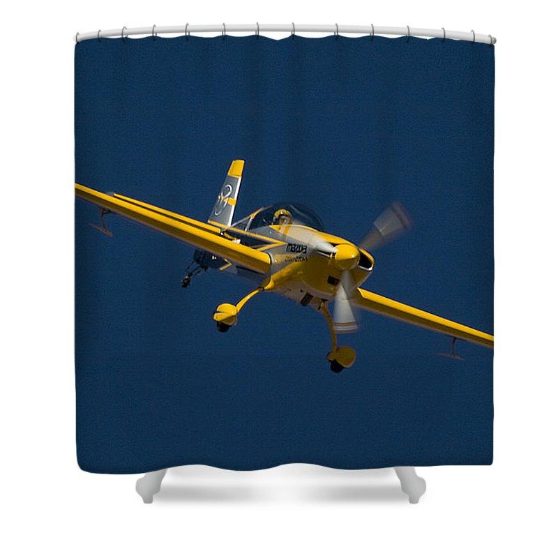 Extra Flugzeugbau Ea300 Shower Curtain featuring the photograph Extra Flugzeugbau by Paul Job