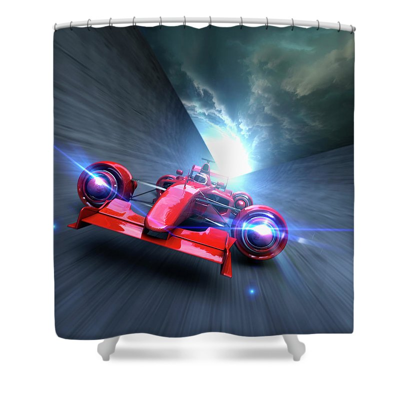 People Shower Curtain featuring the photograph Extreme High Performance by Colin Anderson