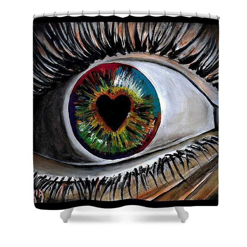 Love Shower Curtain featuring the photograph Eye Love You by Artist RiA