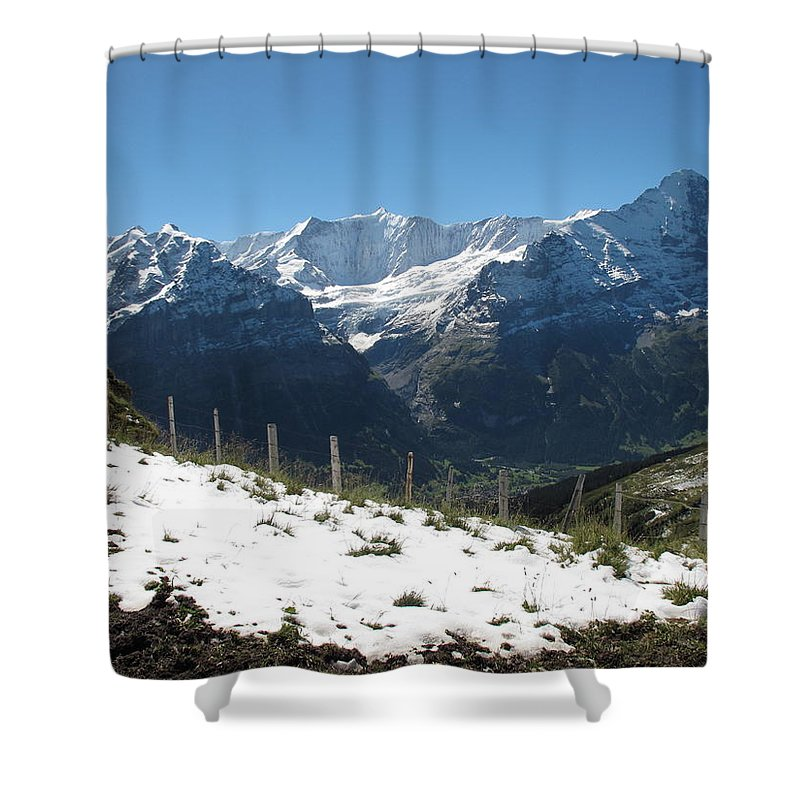 Eiger Shower Curtain featuring the photograph Eyeful Of The Eiger by Mary Ellen Mueller Legault