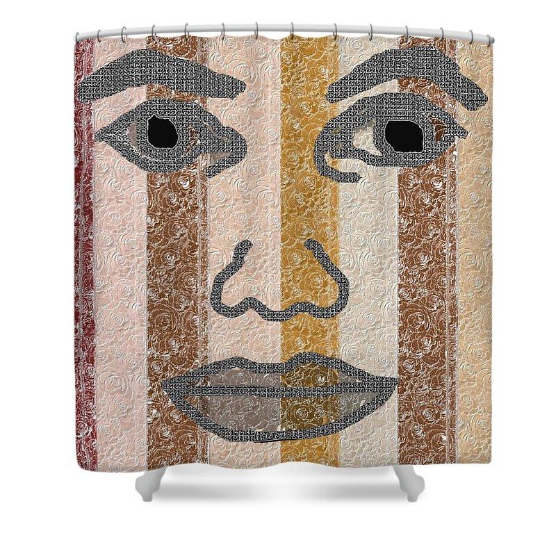 Face Shower Curtain featuring the digital art Face It by Pharris Art