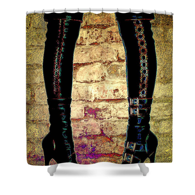 Photography Shower Curtain featuring the photograph Face Off by Paula Ayers