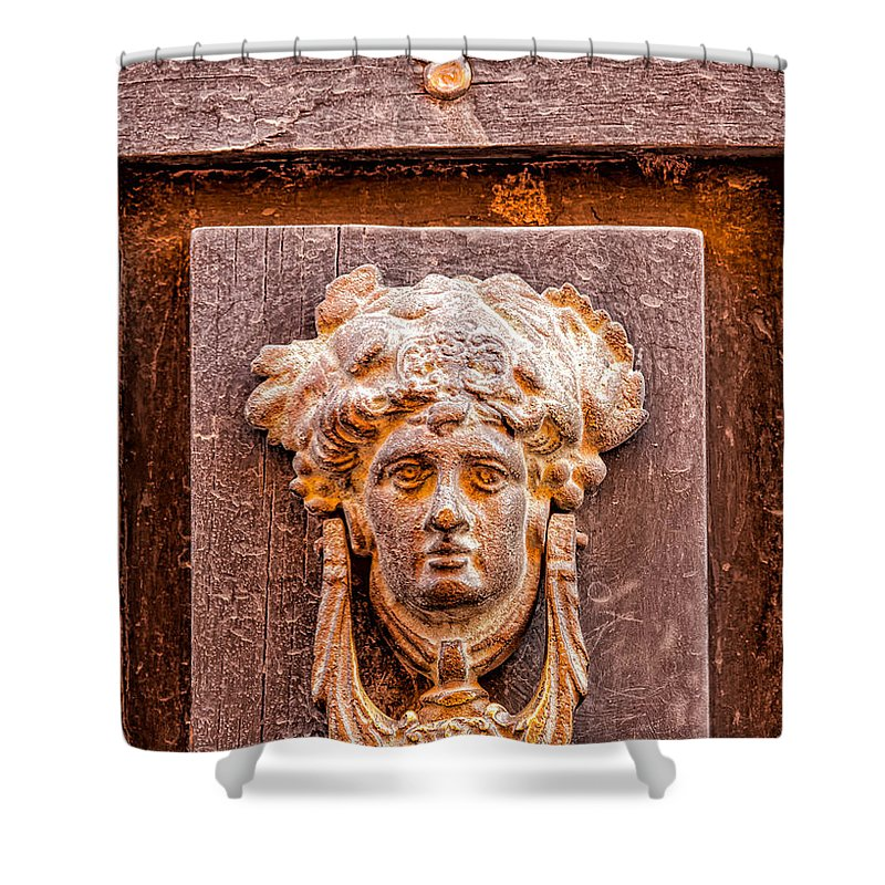 Door Shower Curtain featuring the photograph Face On The Door - Rectangular Crop by Lindley Johnson