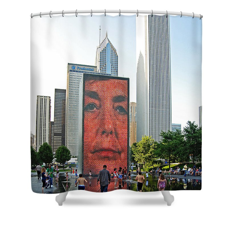 Kids Shower Curtain featuring the photograph Face by Rick Selin