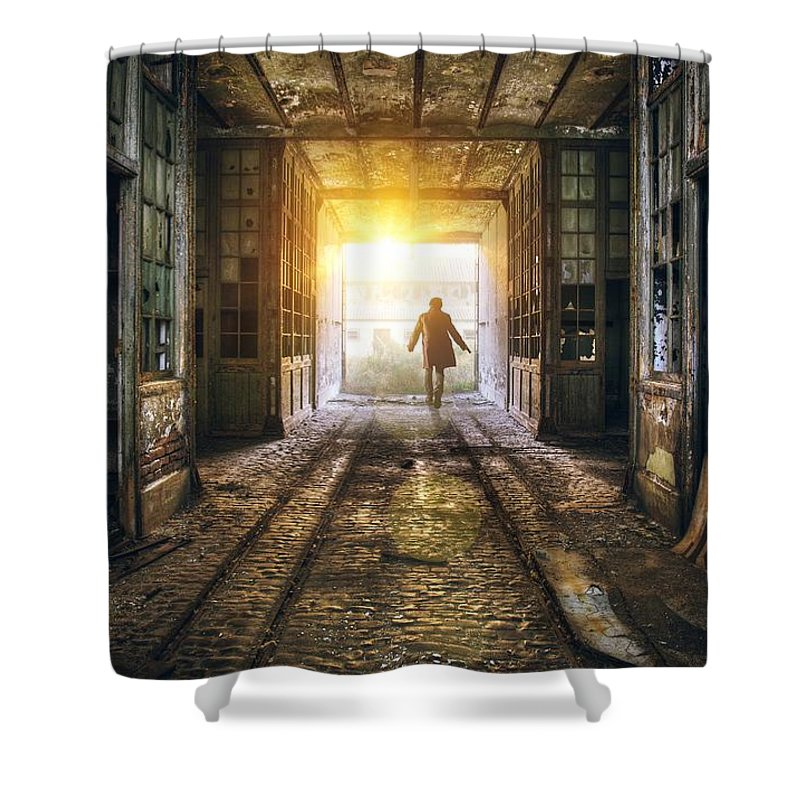 Industrial Photographs Shower Curtains