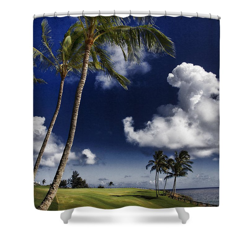 Seafront Shower Curtain featuring the photograph Fairway In Paradise V2 by Douglas Barnard