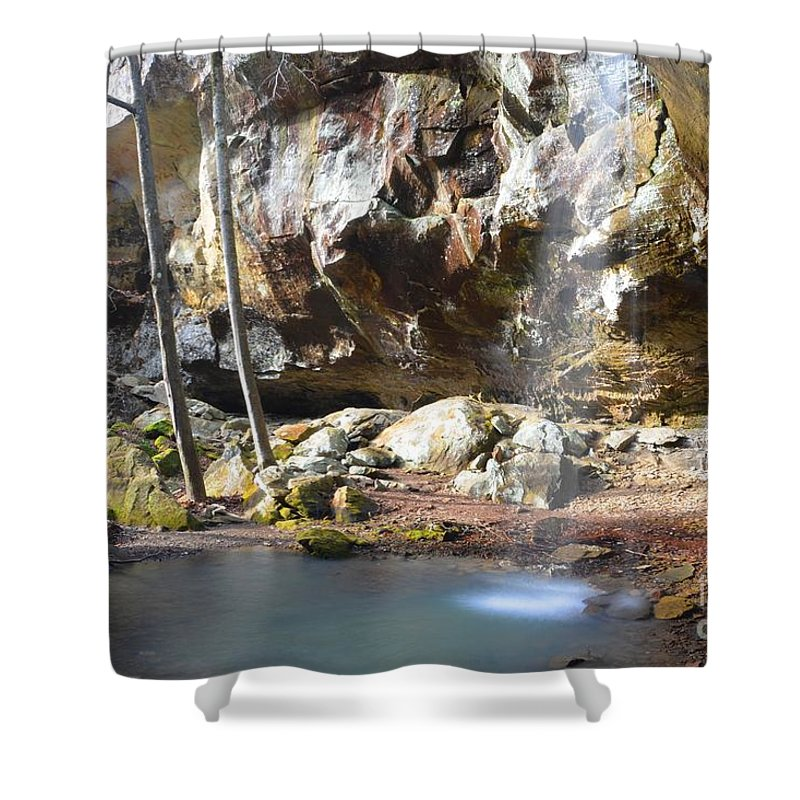 Waterfall Shower Curtain featuring the photograph Fairyland by Deanna Cagle