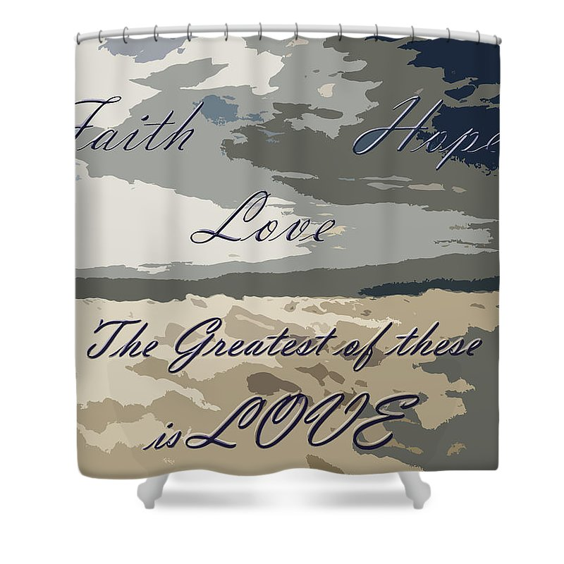 Cloud Shower Curtain featuring the photograph Faith Hope Love 2 by Aimee L Maher ALM GALLERY