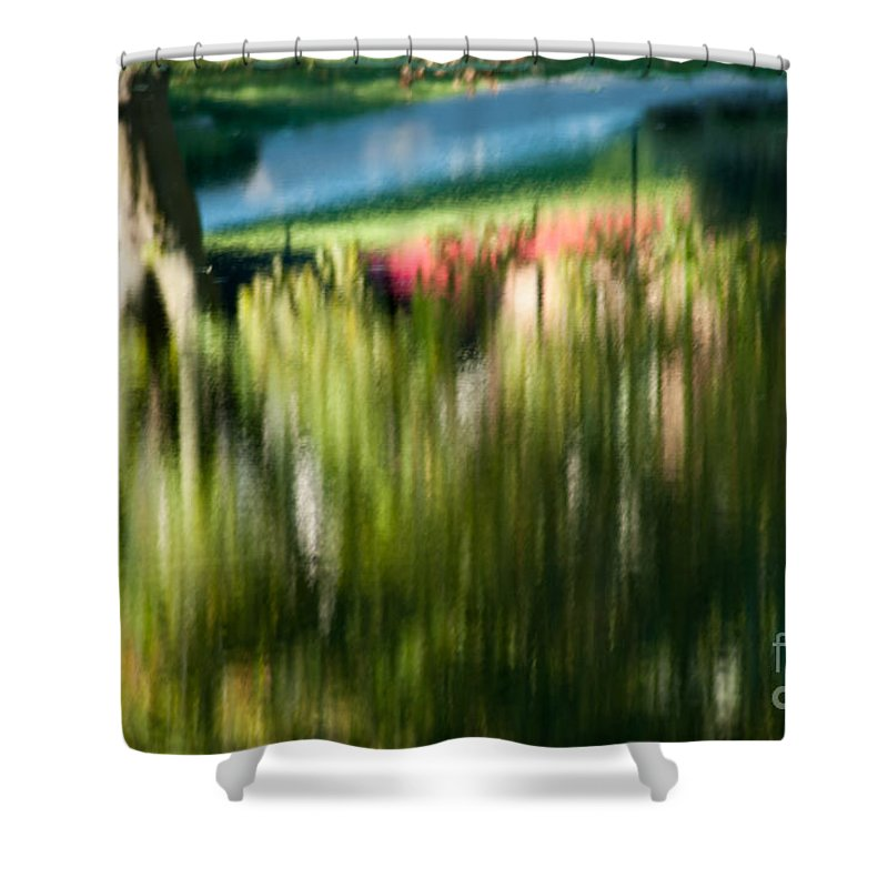 Optical Playground By Mp Ray Shower Curtain featuring the photograph Fall Abstract by Optical Playground By MP Ray