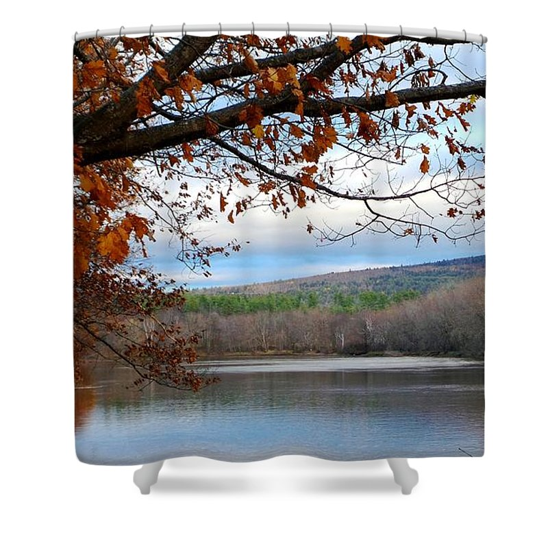 Androscoggin River Shower Curtain featuring the photograph Fall Approaching by Mike Breau