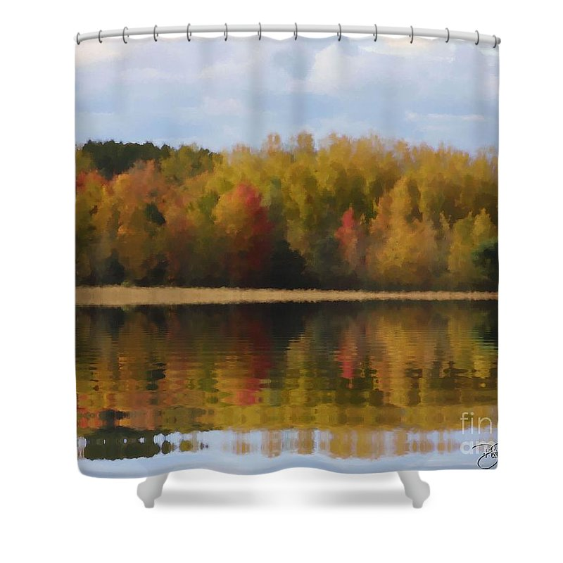 Fall Shower Curtain featuring the painting Fall by Bill Richards