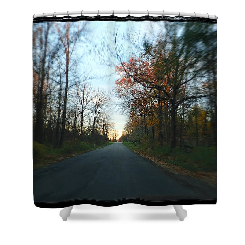 Michigan Shower Curtain featuring the photograph Fall Color Blur by Lars Lentz