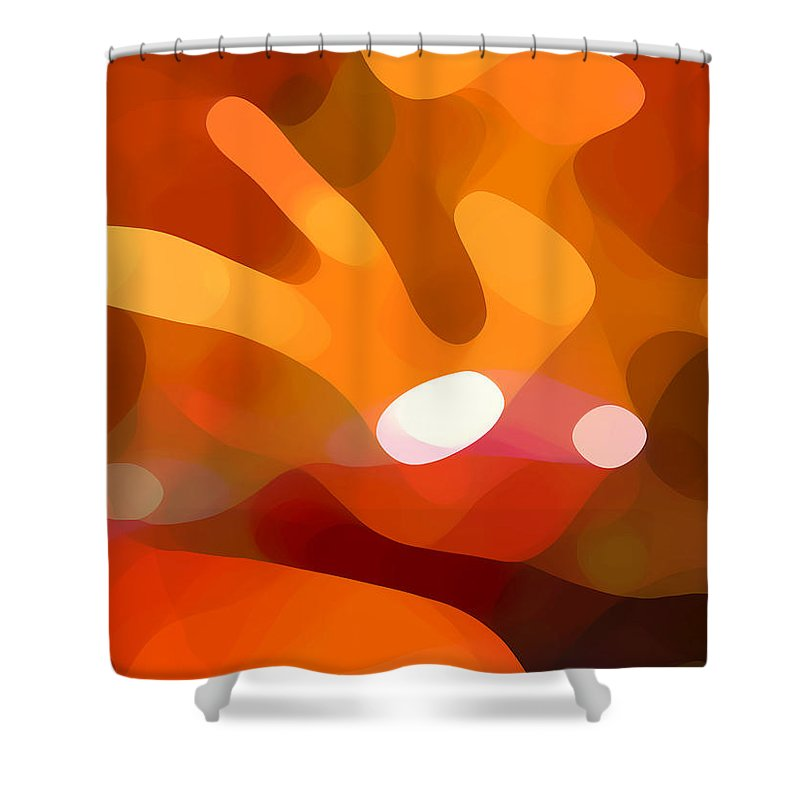 Abstract Shower Curtain featuring the painting Fall Day by Amy Vangsgard