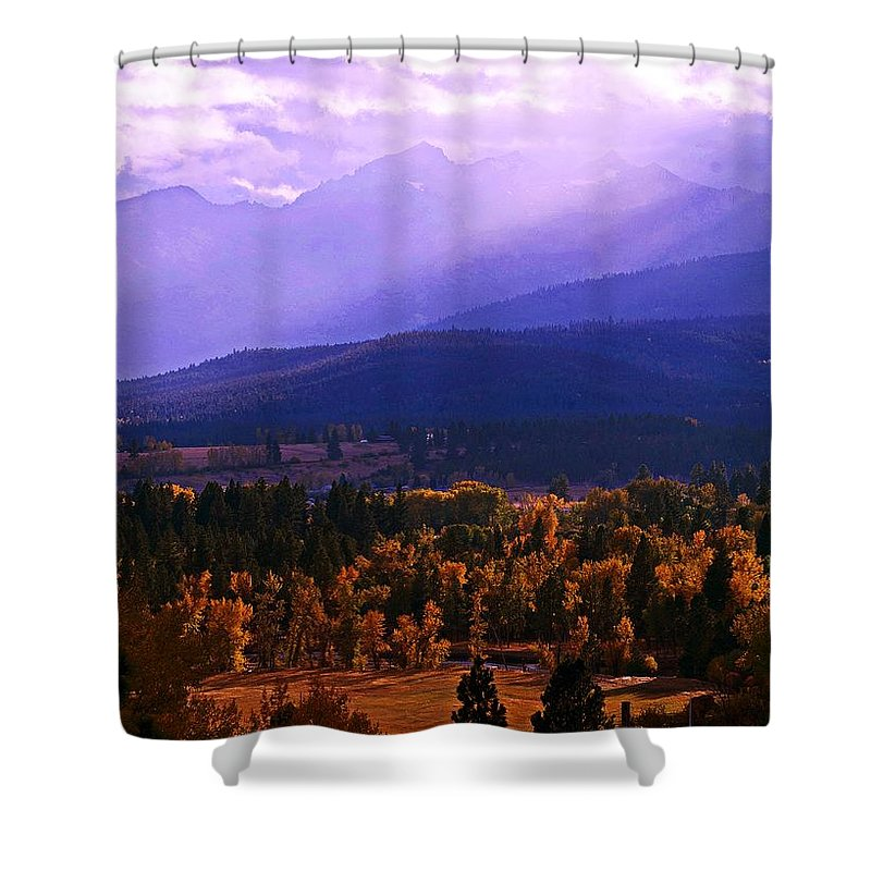 Fall In Montana Shower Curtain featuring the photograph Fall In The Bitterroot Valley by Joseph J Stevens
