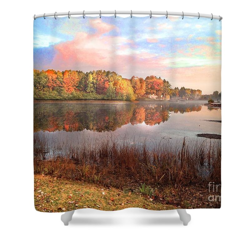 Traverse City Shower Curtain featuring the photograph Fall In Traverse City by J S