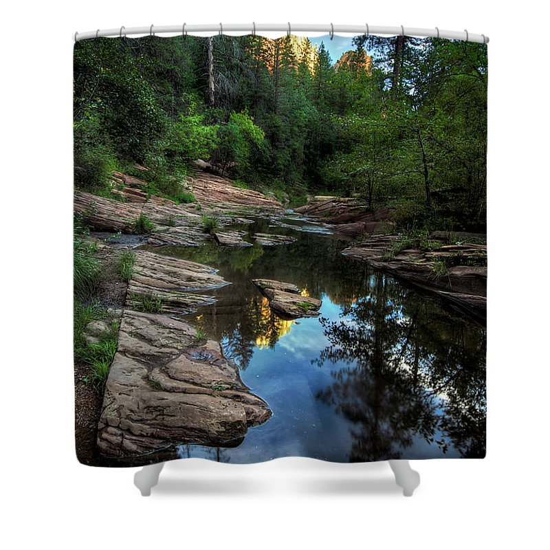 Tranquility Shower Curtain featuring the photograph Fall Is Right Around The Corner In by Image By Sean Foster