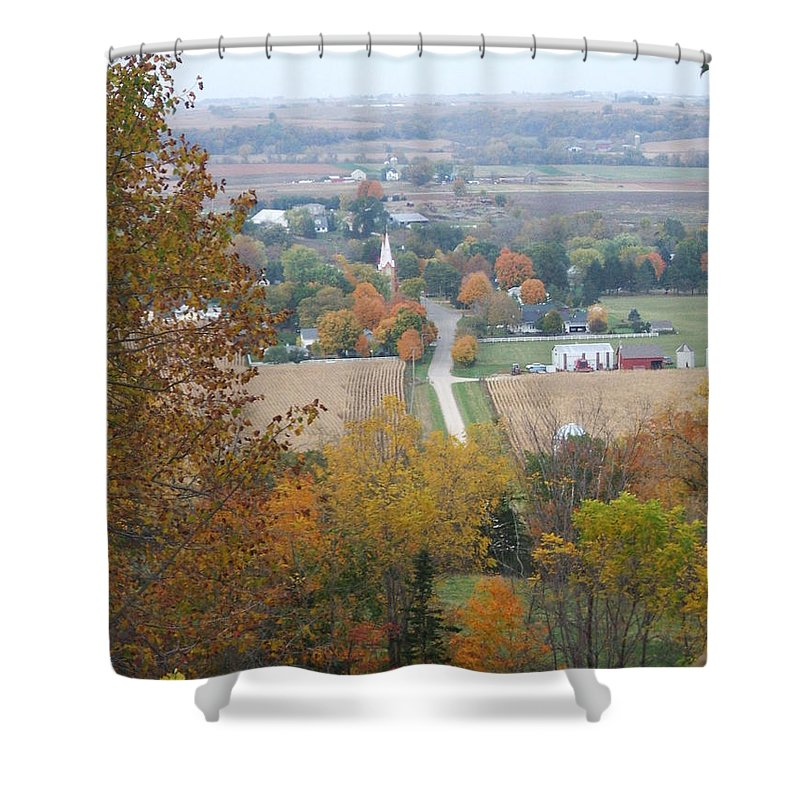 Nature Shower Curtain featuring the photograph Fall Overlook by Minding My Visions by Adri and Ray