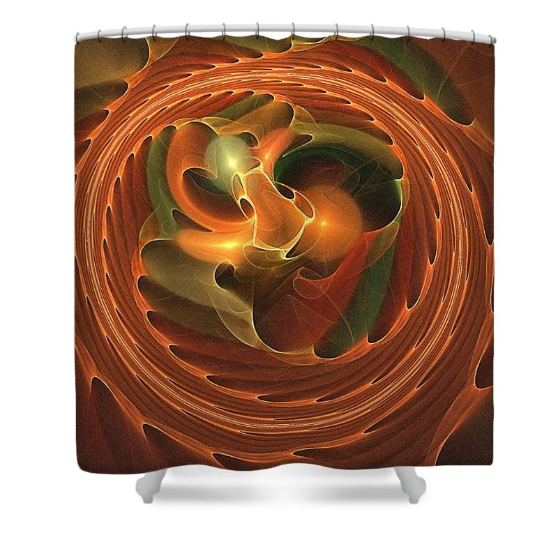 Fall Shower Curtain featuring the digital art Fall Round Up by Doug Morgan