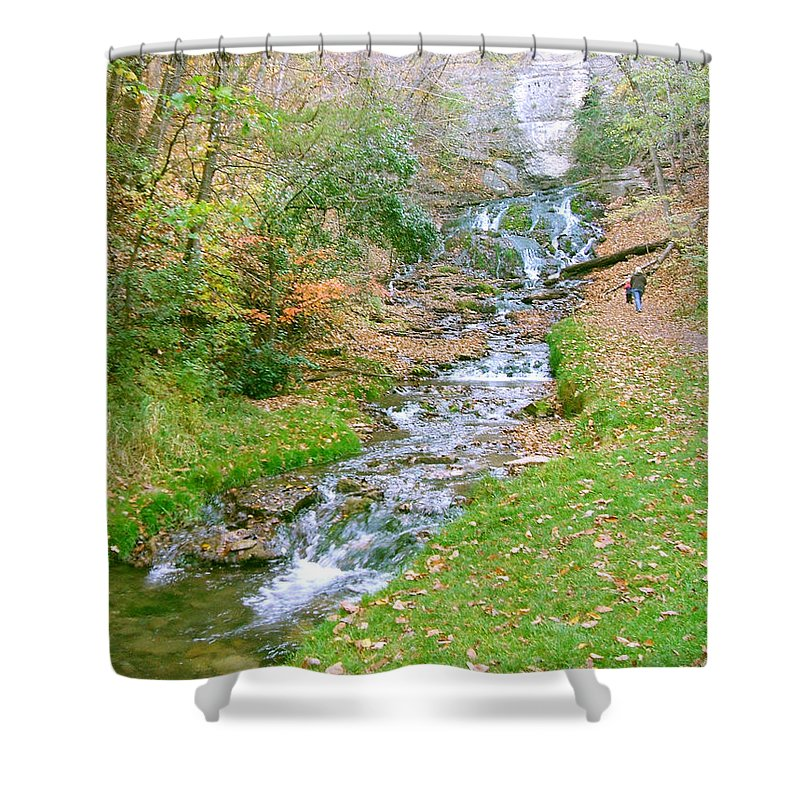 Springs Shower Curtain featuring the photograph Fall Springs by Minding My Visions by Adri and Ray