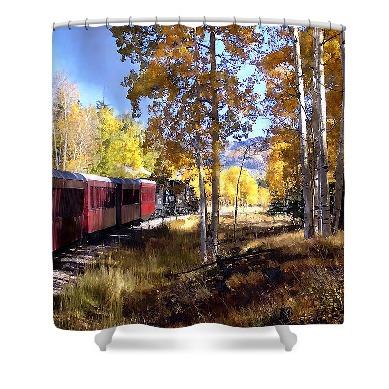 Chama Shower Curtain featuring the photograph Fall Train Ride New Mexico by Kurt Van Wagner