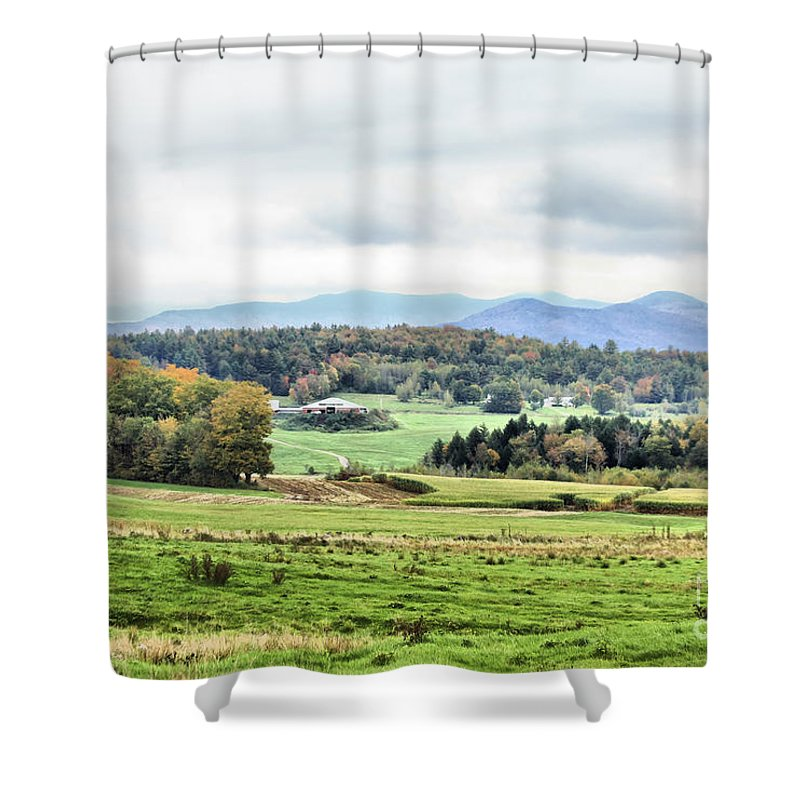 Shower Curtain featuring the photograph Fall Vermont Landscape by Deborah Benoit
