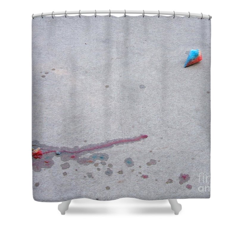 Odd Shower Curtain featuring the photograph Fallen Treat by Minding My Visions by Adri and Ray