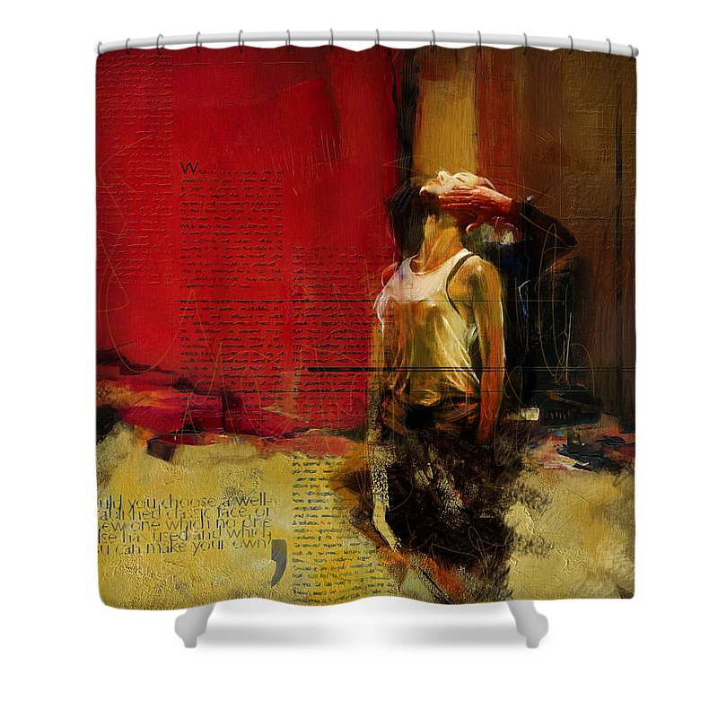 Women Shower Curtain featuring the painting Falling In Love by Corporate Art Task Force