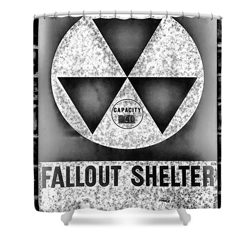 Fallout Shower Curtain featuring the photograph Fallout Shelter Wall 10 by Stephen Stookey