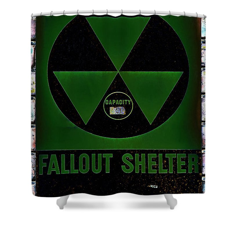 Fallout Shower Curtain featuring the photograph Fallout Shelter Wall 4 by Stephen Stookey