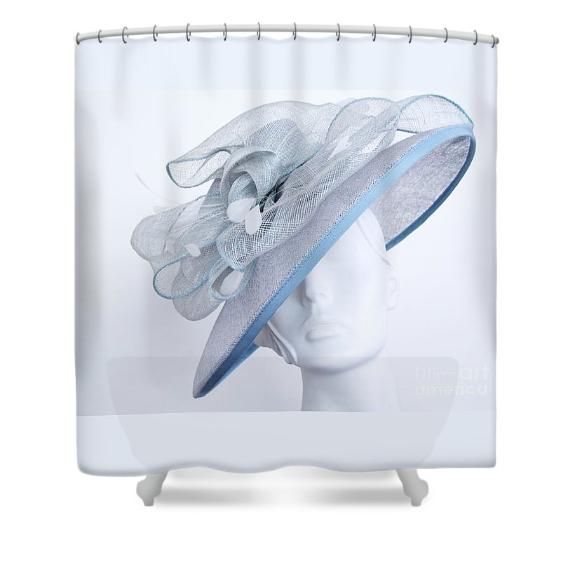Hat Shower Curtain featuring the photograph Fancy Hat Atilt by Ann Horn