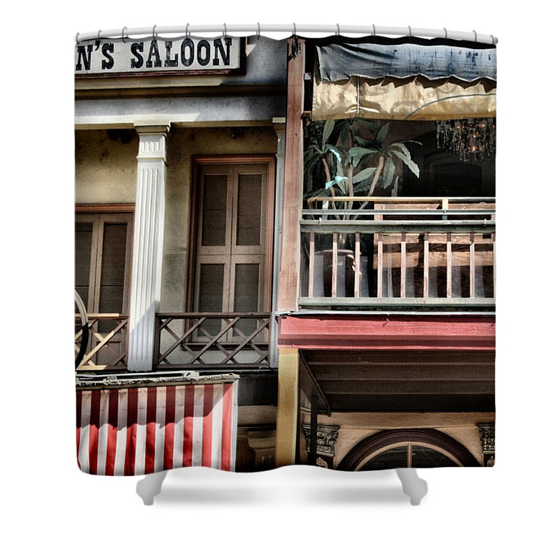 Western Shower Curtain featuring the photograph Fanny Anne's Saloon by Sally Bauer